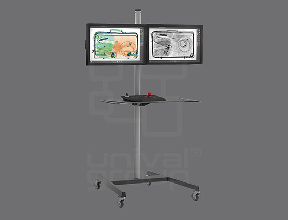 BV 5030 | COMPACT BAGGAGE X-RAY SCANNER | DUAL MONITOR OPERATOR STAND