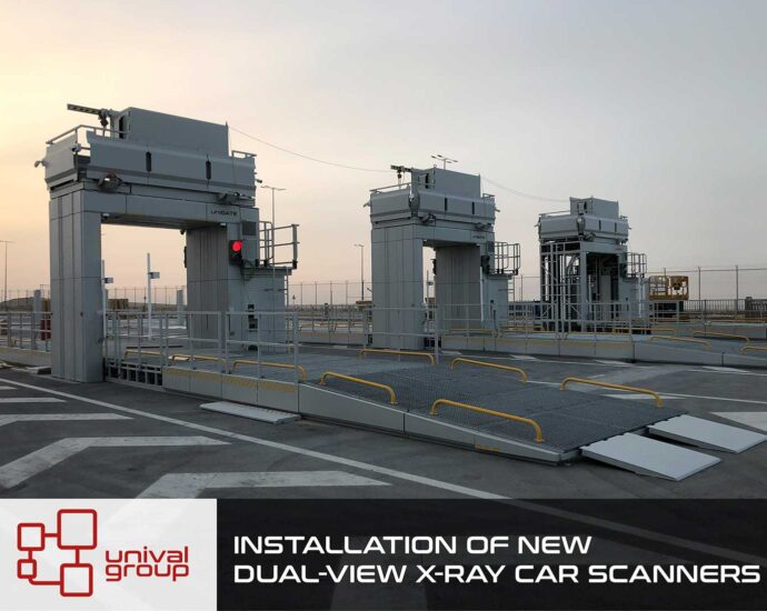 INSTALLATION OF NEW DUAL-VIEW X-RAY CAR SCANNERS