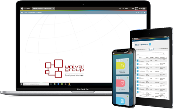 oneclick™ cloud desktop for security systems by unival